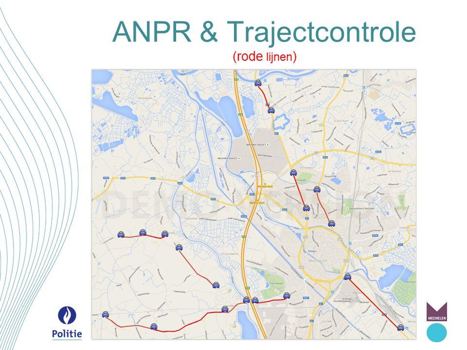 ANPR & Trajectcontrole (rode lijnen )