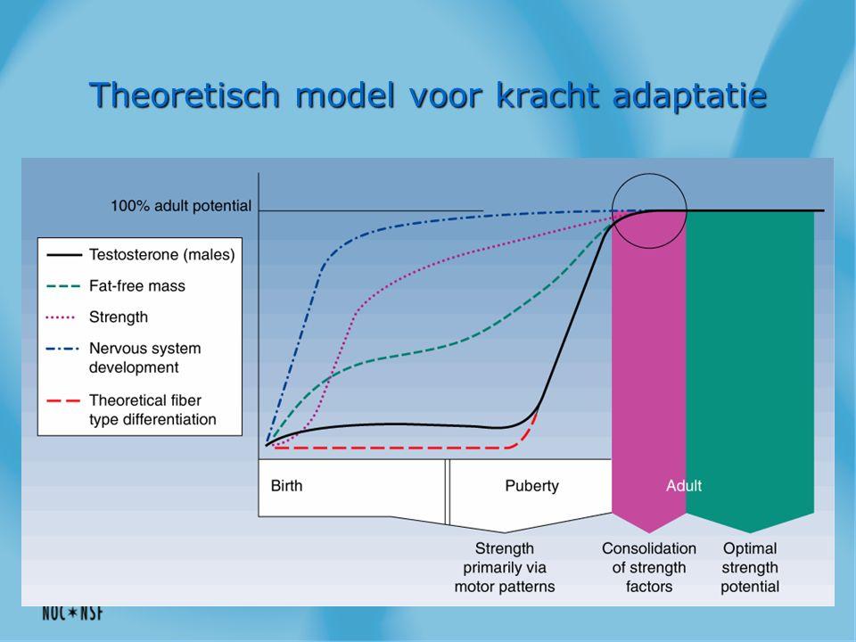 Theoretisch model voor kracht adaptatie