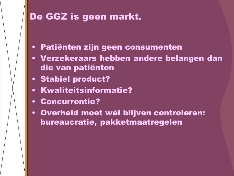 De GGZ is geen markt.