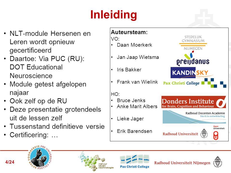Programma Workshop Outline module Focus op de eindopdracht Zelf aan de slag Nabespreken 5/24