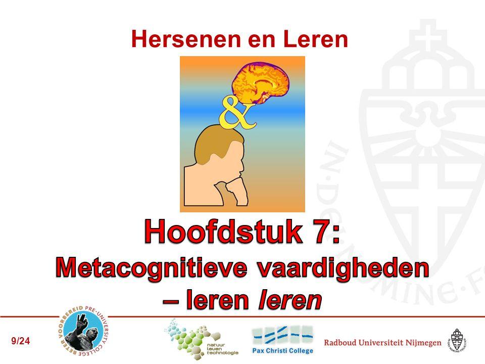 Eindopdracht: 7.3 deel 1: advies aan jezelf Hst 1 en 7: metacognitie: hoe leer jij.