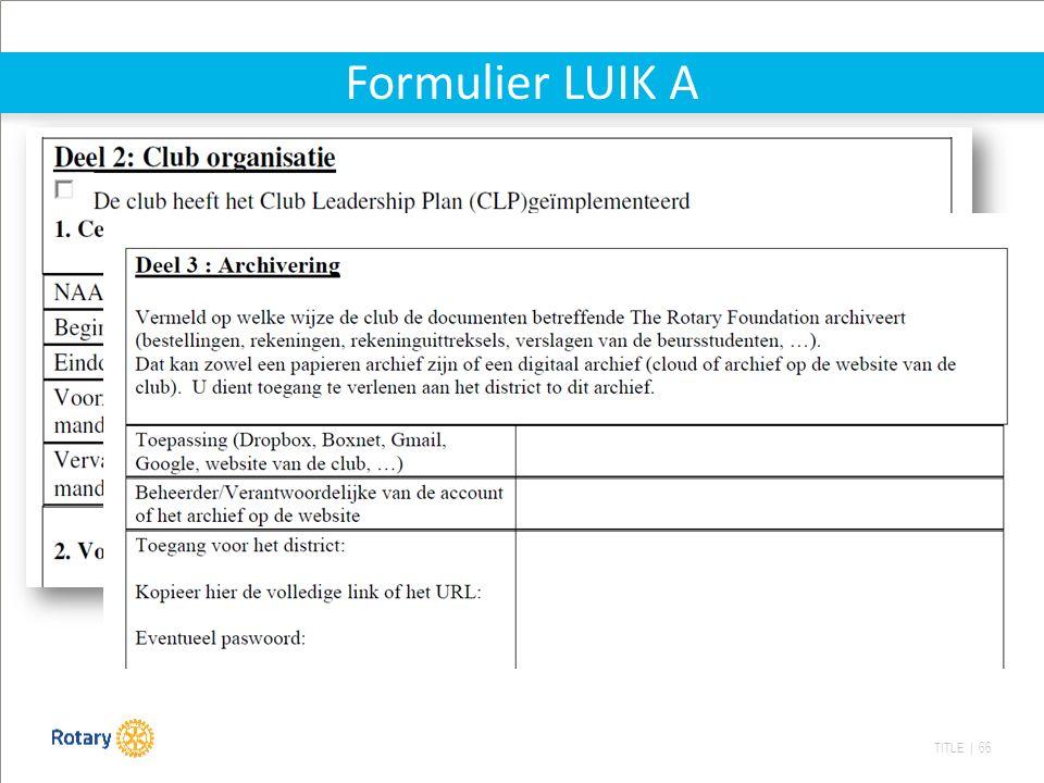 TITLE | 66 Formulier LUIK A