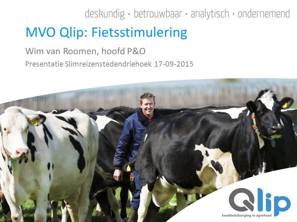Wim van Roomen, hoofd P&O Presentatie Slimreizenstedendriehoek 17-09-2015 MVO Qlip: Fietsstimulering