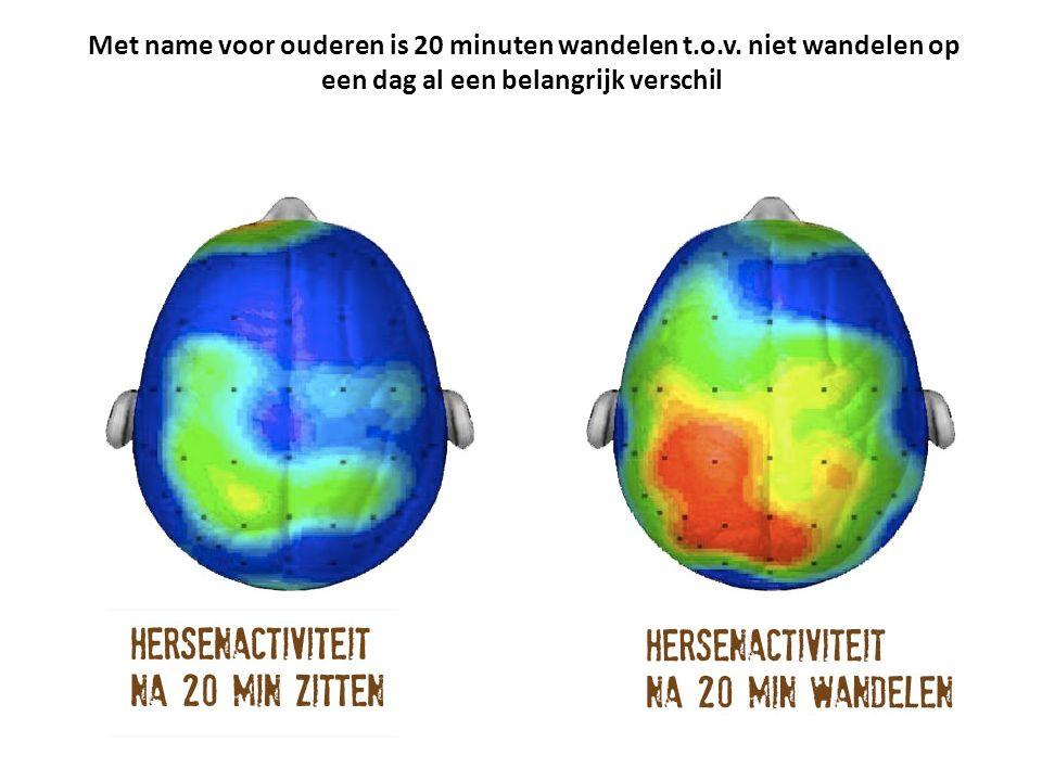 Met name voor ouderen is 20 minuten wandelen t.o.v.