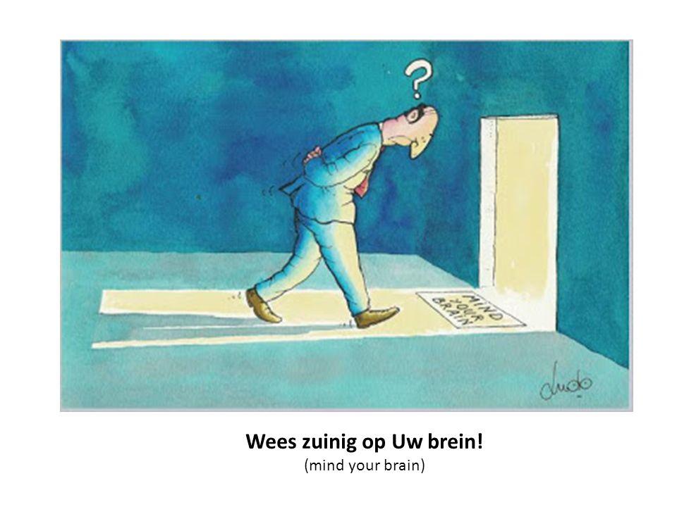 Wees zuinig op Uw brein! (mind your brain)