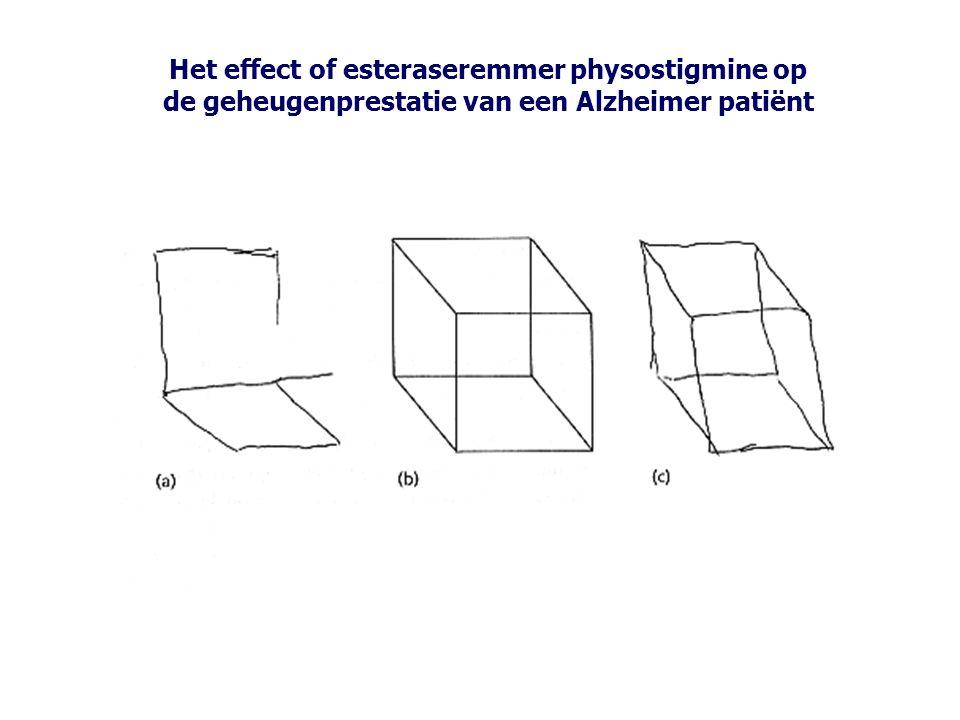 Het effect of esteraseremmer physostigmine op de geheugenprestatie van een Alzheimer patiënt