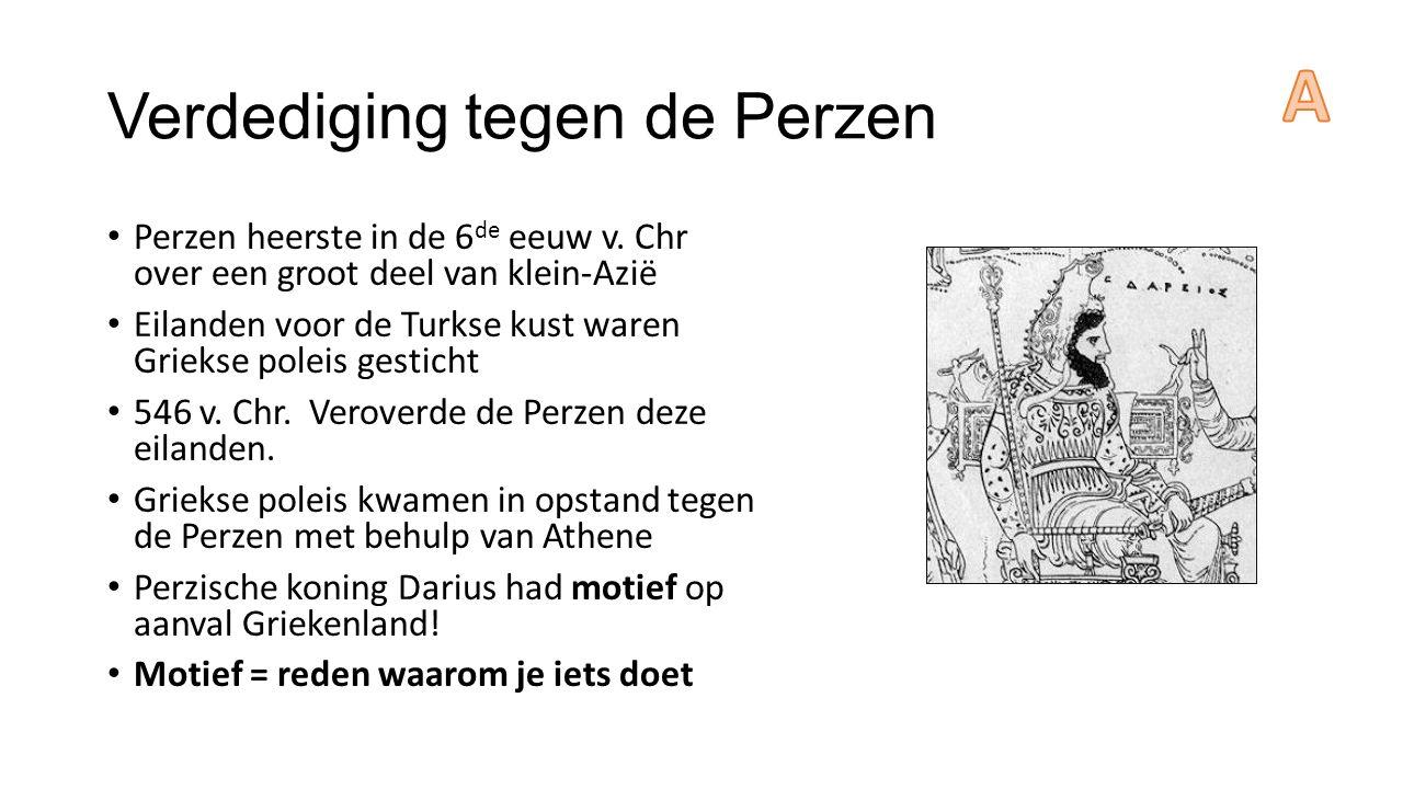 Verdediging tegen de Perzen Perzen heerste in de 6 de eeuw v.