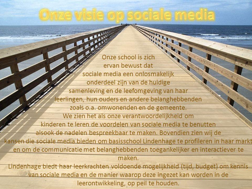 Onze school is zich ervan bewust dat sociale media een onlosmakelijk onderdeel zijn van de huidige samenleving en de leefomgeving van haar leerlingen, hun ouders en andere belanghebbenden zoals o.a.