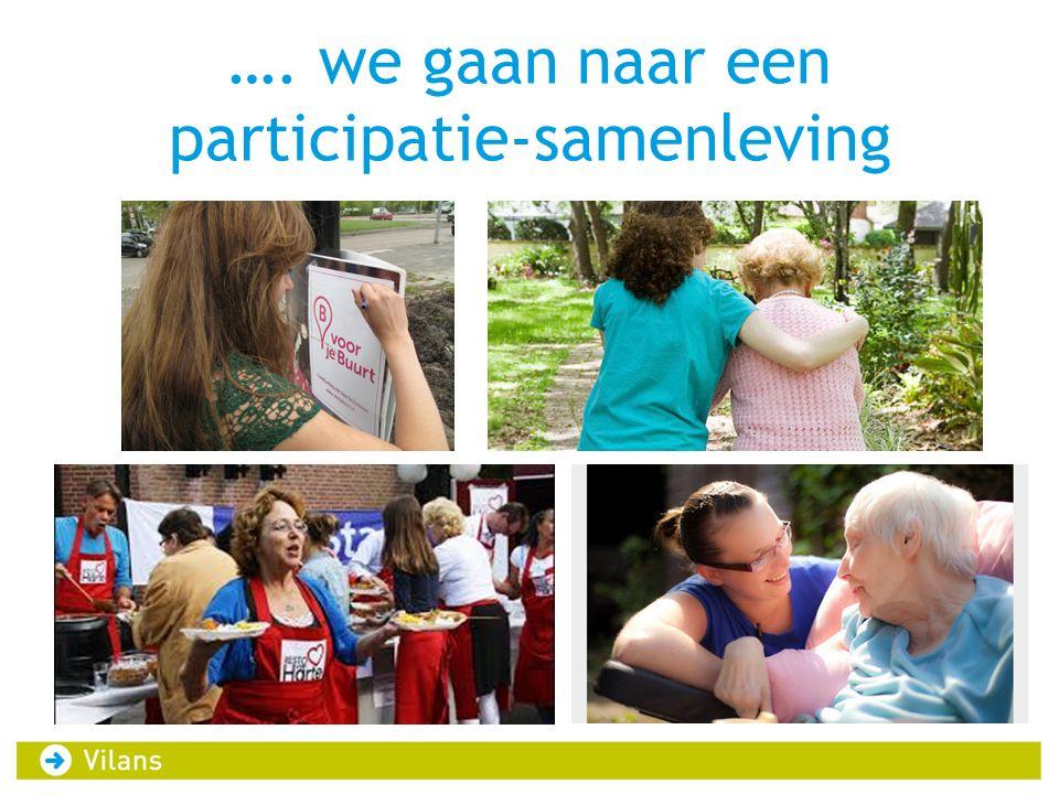 …. we gaan naar een participatie-samenleving