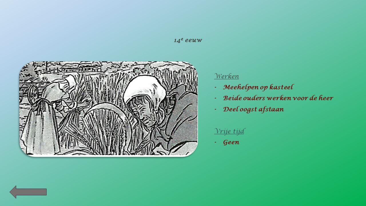 Wat weet je over het leven van deze ouders ? Werken -Smid -Hard werken in de nederzetting Vrije tijd -Grootvader vertelt verhalen 5 e eeuw voor Christ
