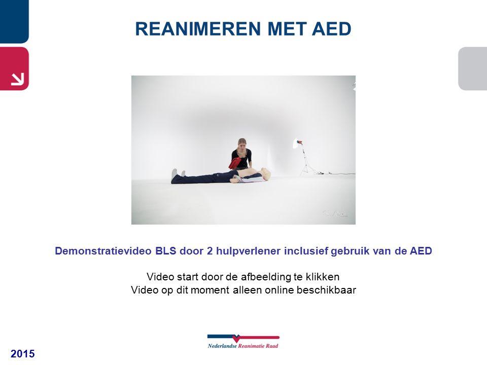 2015 REANIMEREN MET AED Demonstratievideo BLS door 2 hulpverlener inclusief gebruik van de AED Video start door de afbeelding te klikken Video op dit moment alleen online beschikbaar