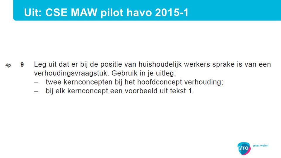 Uit: CSE MAW pilot havo 2015-1