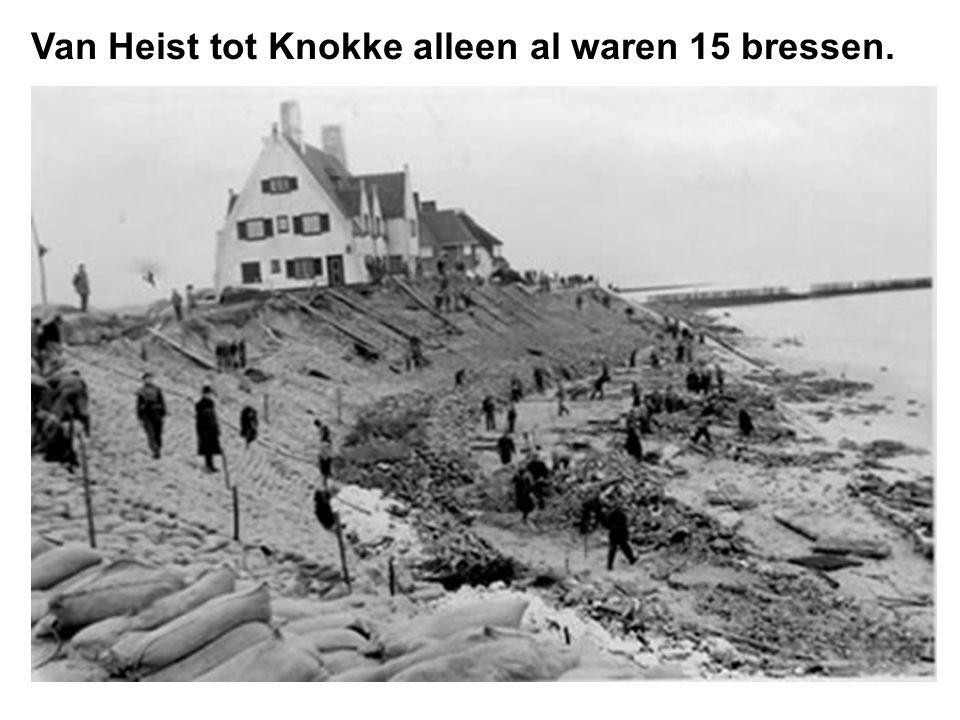 De schade aan de Belgische Oostkust werd geschat op 450 miljoen BF om 37 bressen te dichten.