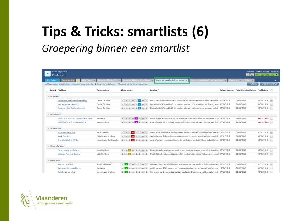 Tips & Tricks: smartlists (6) Groepering binnen een smartlist