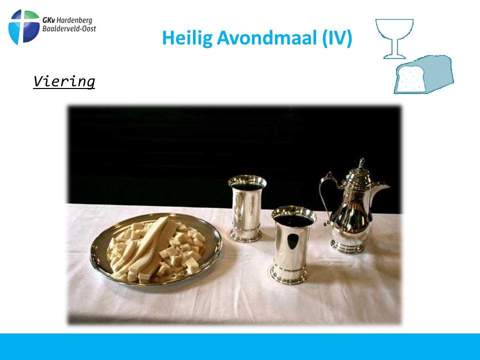 Heilig Avondmaal (IV) Opwekking Dit brood en deze wijn verwijzen naar het lichaam en bloed van onze Heer Jezus Christus.