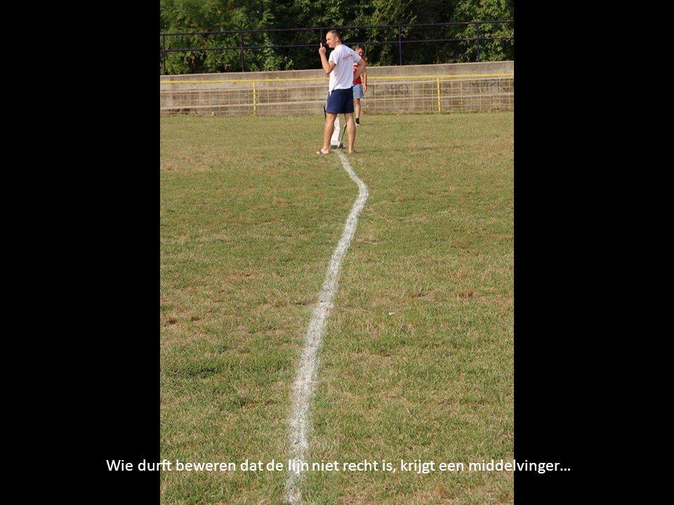 Het oefenterrein voor d doelmannen…
