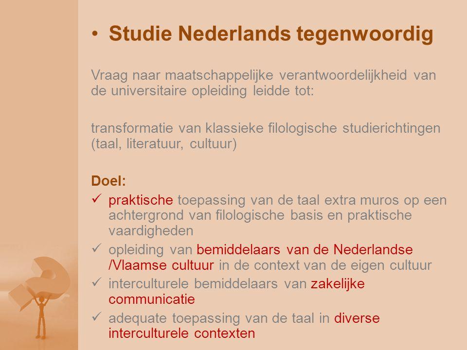 Studie Nederlands tegenwoordig Vraag naar maatschappelijke verantwoordelijkheid van de universitaire opleiding leidde tot: transformatie van klassieke