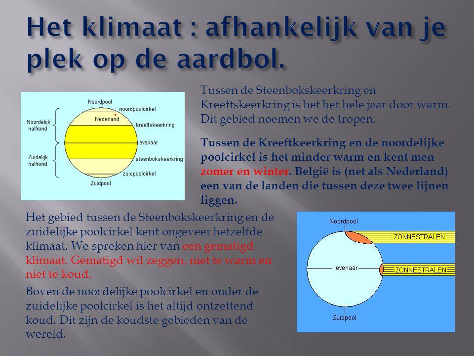 Het gebied tussen de Steenbokskeerkring en de zuidelijke poolcirkel kent ongeveer hetzelfde klimaat.