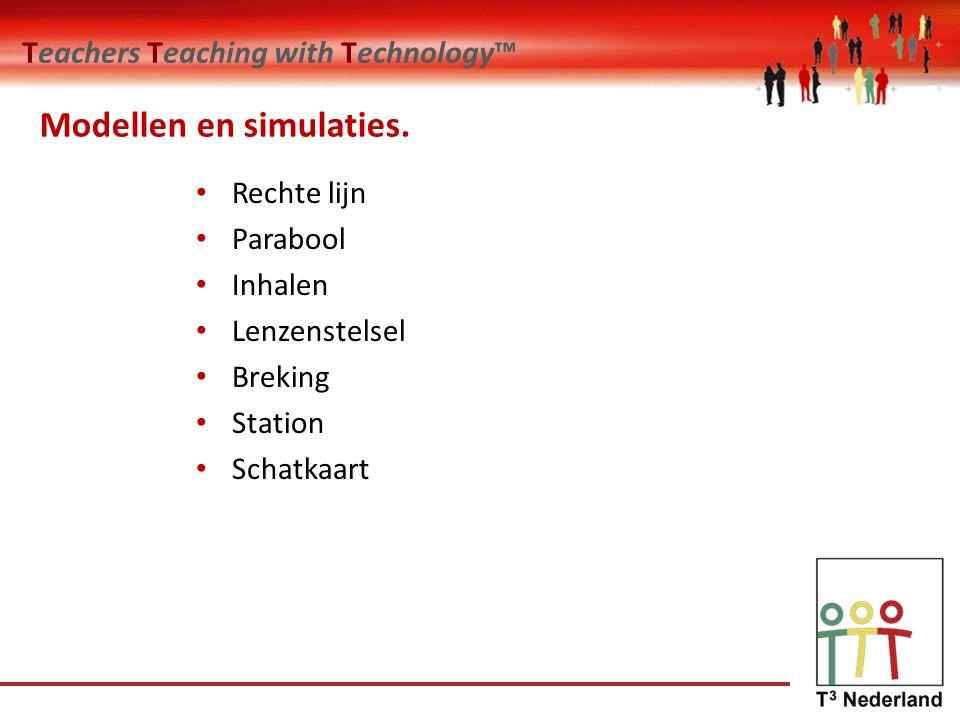 Teachers Teaching with Technology™ Toepassing in het onderwijs Doel van je opdracht, wat wil je je leerlingen leren.