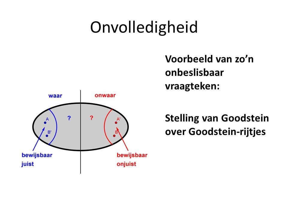 Onvolledigheid Voorbeeld van zo'n onbeslisbaar vraagteken: Stelling van Goodstein over Goodstein-rijtjes
