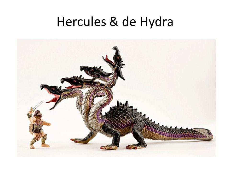 De veelkoppige draak gemodelleerd als boom (bepaald type graaf) Bladeren van de boom = koppen van de hydra Regels die het aangroeien van nieuwe koppen van de hydra beschrijven wanneer Hercules er een afslaat (Kirby & Paris).