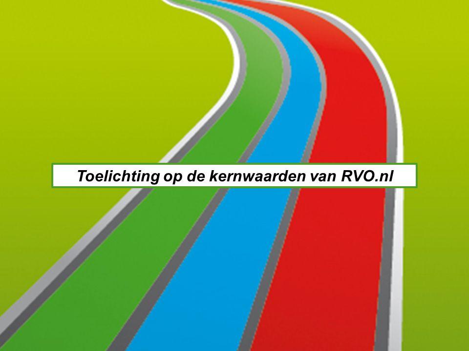 Toelichting op de kernwaarden van RVO.nl