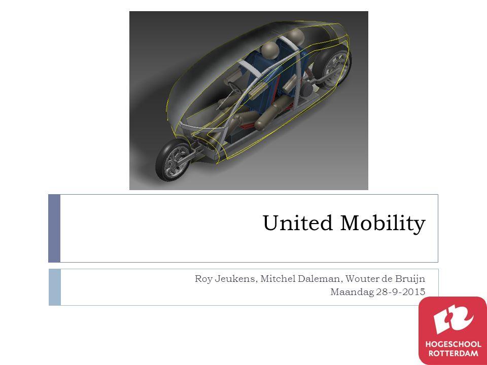 United Mobility Roy Jeukens, Mitchel Daleman, Wouter de Bruijn Maandag 28-9-2015