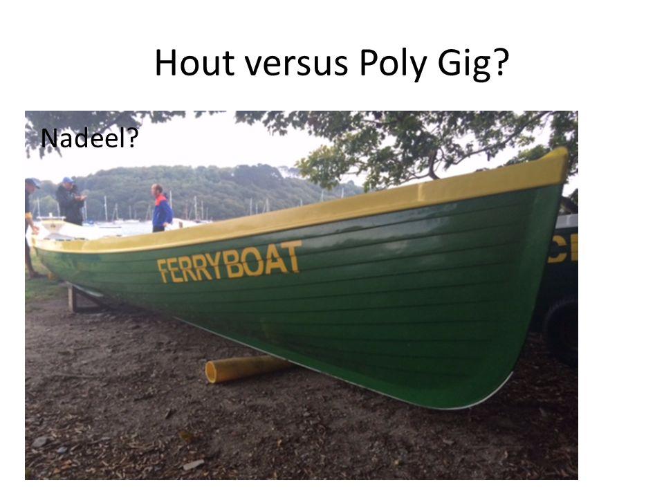 Hout versus Poly Gig? Nadeel?