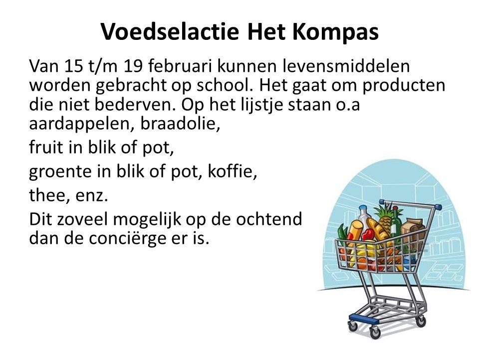 Voedselactie Het Kompas Van 15 t/m 19 februari kunnen levensmiddelen worden gebracht op school.