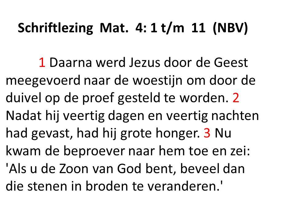 Schriftlezing Mat.