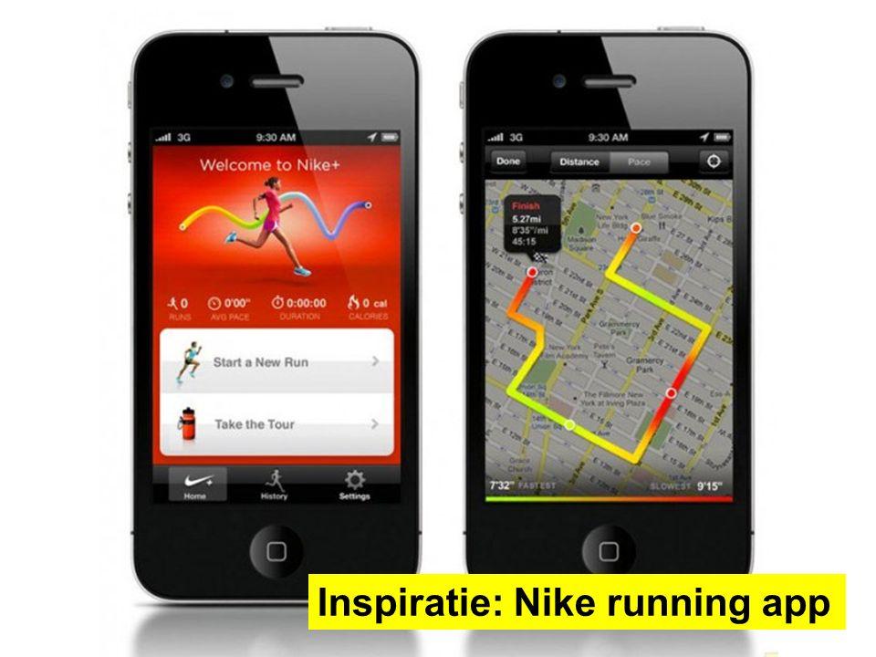 Inspiratie: Nike running app