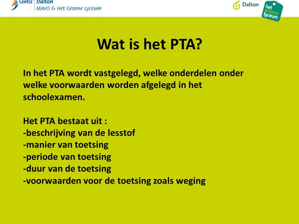 Wat is het PTA.