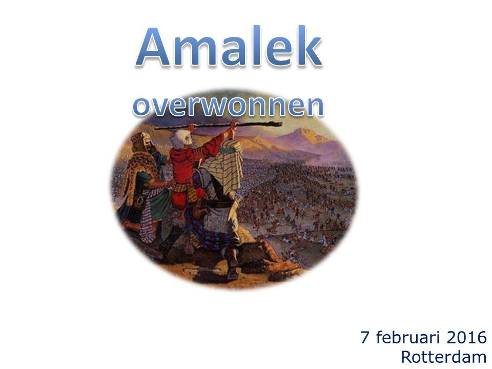 Exodus 17 8 Toen kwam Amalek en streed tegen Israel te Refidim.