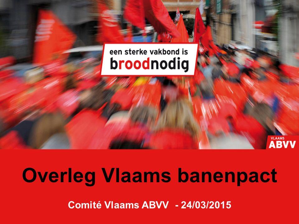 Overleg Vlaams banenpact Comité Vlaams ABVV - 24/03/2015
