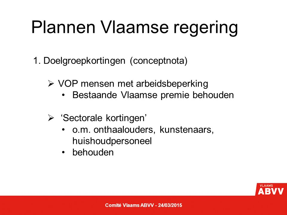 Plannen Vlaamse regering 2.