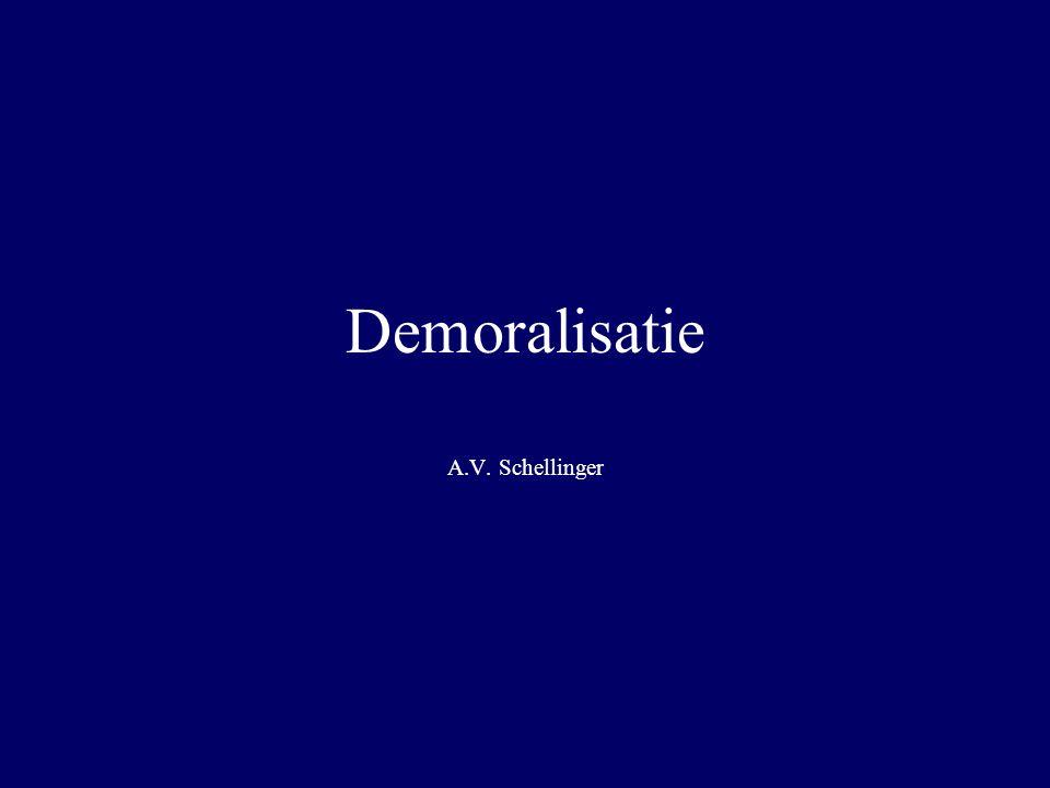 Demoralisatie A.V. Schellinger