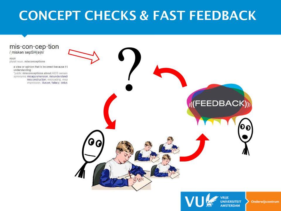 CONCEPT CHECKS & FAST FEEDBACK