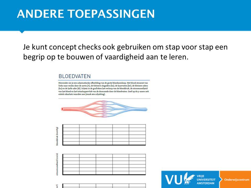 Je kunt concept checks ook gebruiken om stap voor stap een begrip op te bouwen of vaardigheid aan te leren. ANDERE TOEPASSINGEN