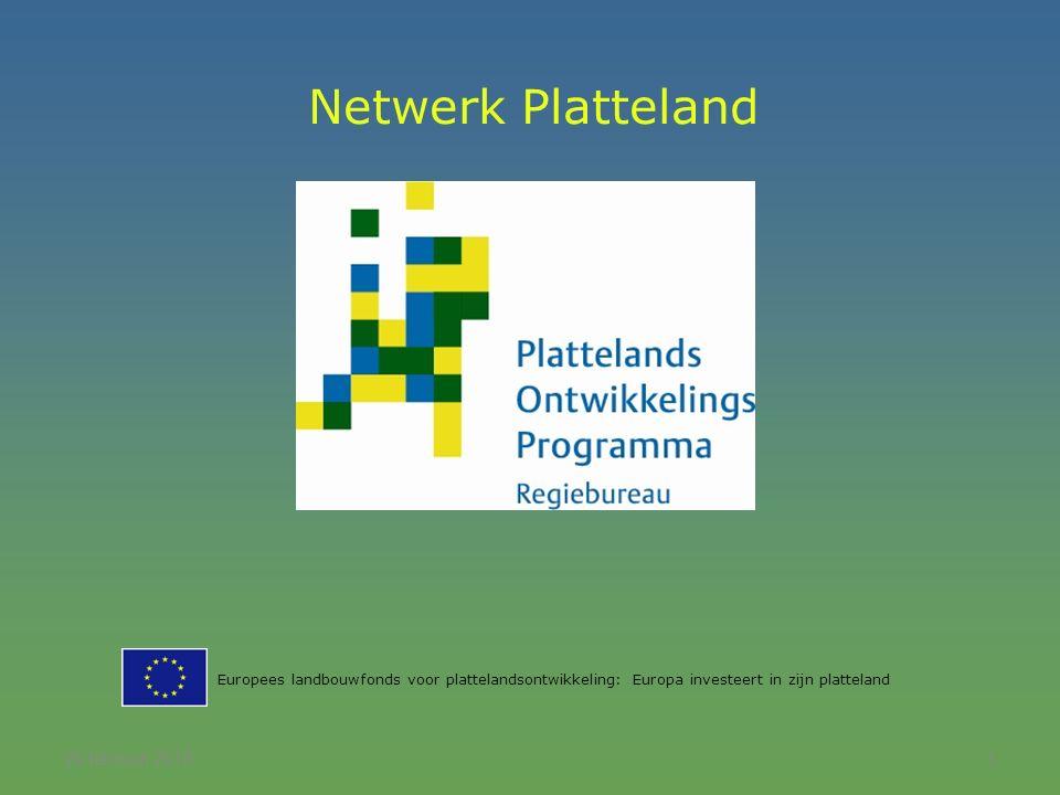 20 februari 20161 Netwerk Platteland Europees landbouwfonds voor plattelandsontwikkeling: Europa investeert in zijn platteland