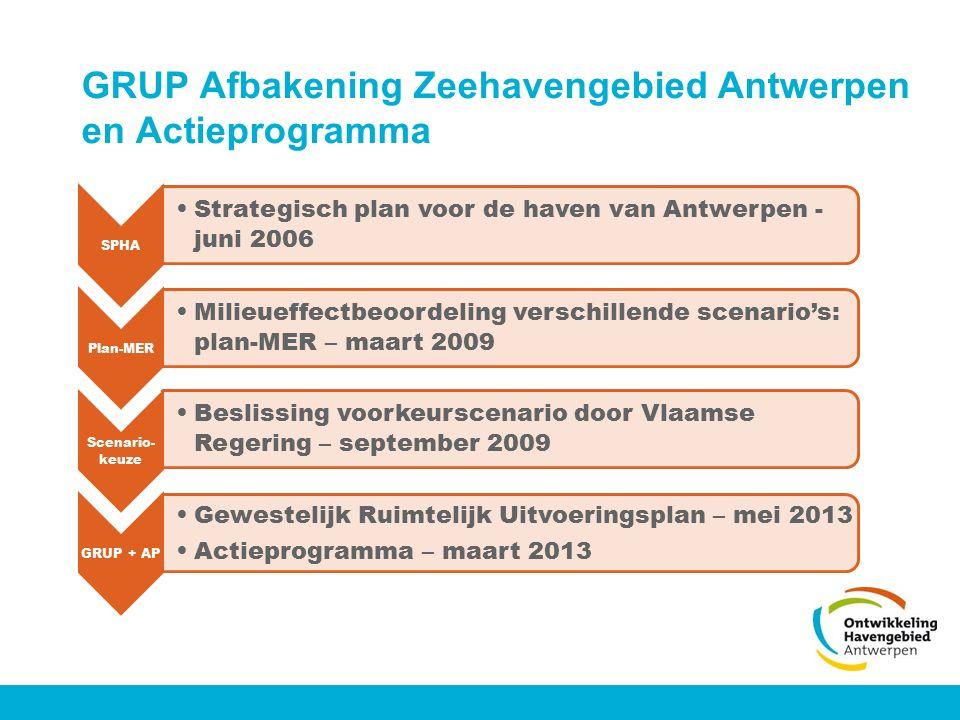 GRUP Afbakening Zeehavengebied Antwerpen en Actieprogramma SPHA Strategisch plan voor de haven van Antwerpen - juni 2006 Plan-MER Milieueffectbeoordel