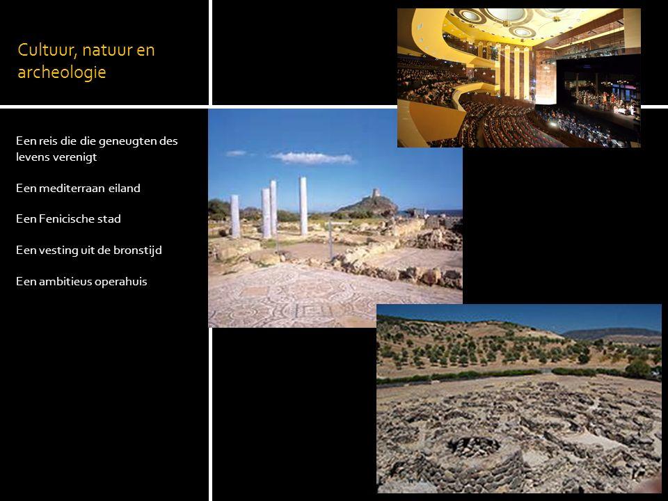 Cultuur, natuur en archeologie Een reis die die geneugten des levens verenigt Een mediterraan eiland Een Fenicische stad Een vesting uit de bronstijd