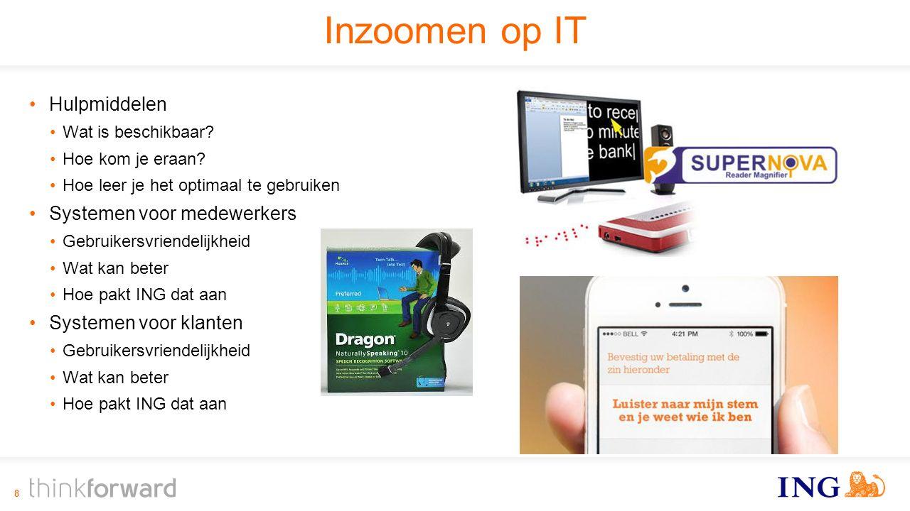 Inzoomen op IT Hulpmiddelen Wat is beschikbaar. Hoe kom je eraan.