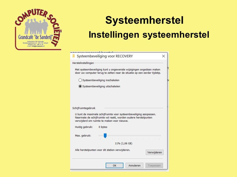 Systeemherstel Windows systeemherstel Starten