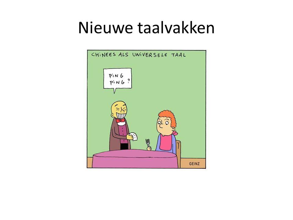 Nieuwe taalvakken