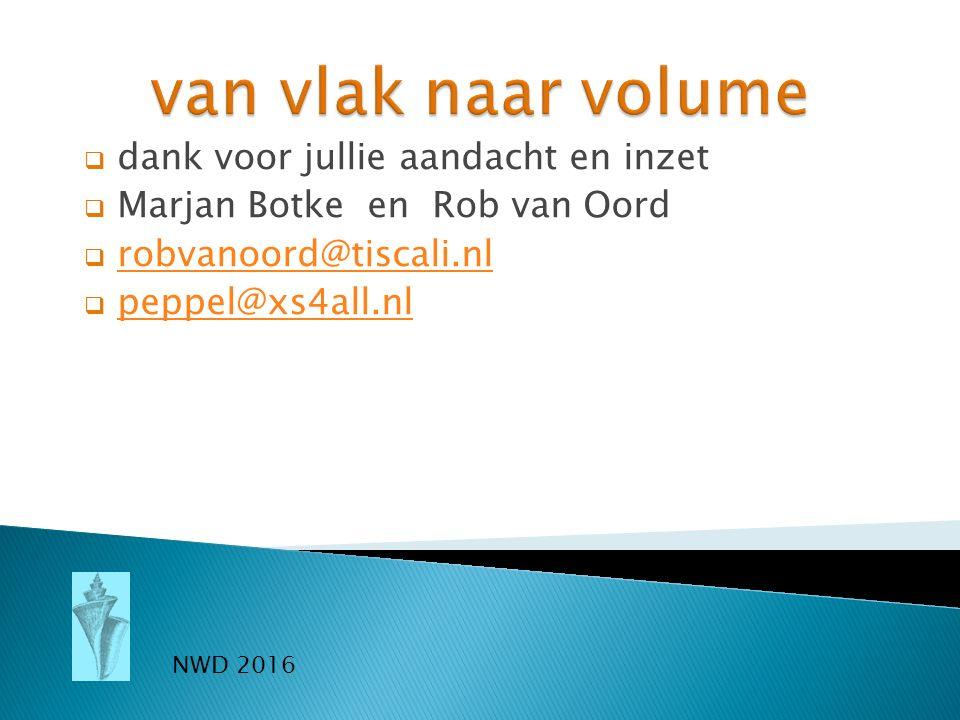  dank voor jullie aandacht en inzet  Marjan Botke en Rob van Oord  robvanoord@tiscali.nlrobvanoord@tiscali.nl  peppel@xs4all.nlpeppel@xs4all.nl NW