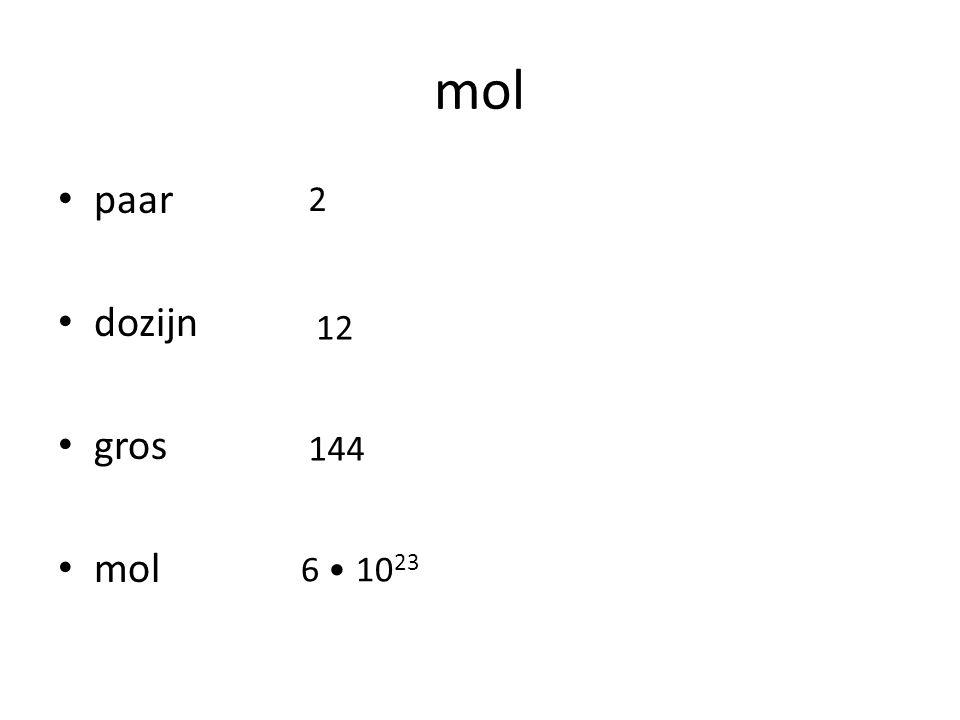mol ping pong ballen biljartballen tennisballen volumemassa kleinste grootste middelste kleinste grootste middelste paar