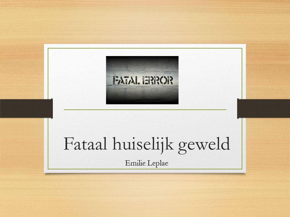 Fataal huiselijk geweld Emilie Leplae