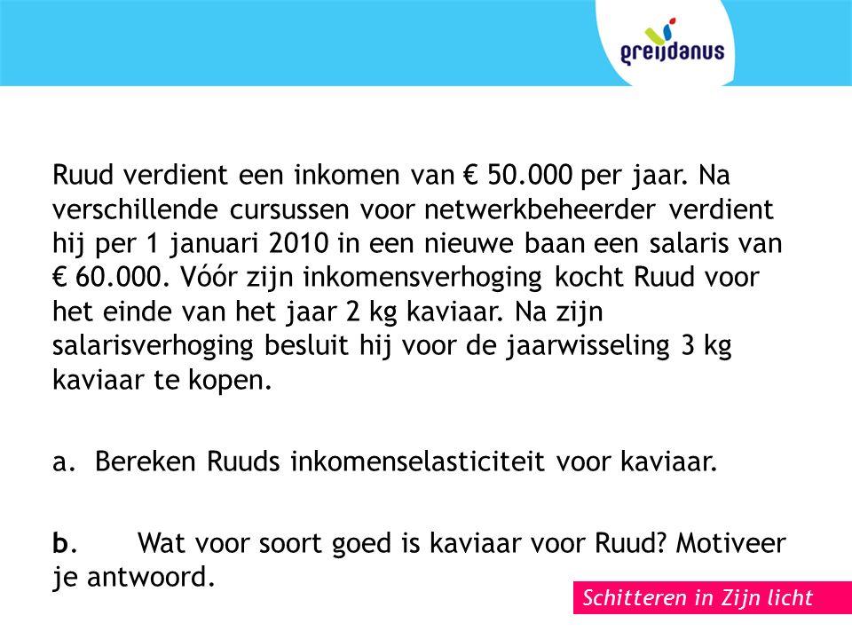 Schitteren in Zijn licht Ruud verdient een inkomen van € 50.000 per jaar.