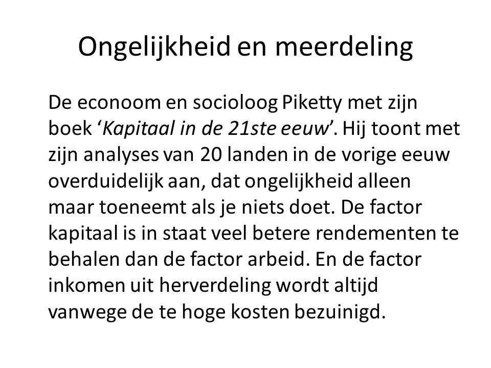 Ongelijkheid en meerdeling De econoom en socioloog Piketty met zijn boek 'Kapitaal in de 21ste eeuw'.