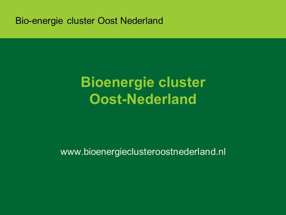 Bio-energie cluster Oost Nederland Bioenergie cluster Oost-Nederland www.bioenergieclusteroostnederland.nl